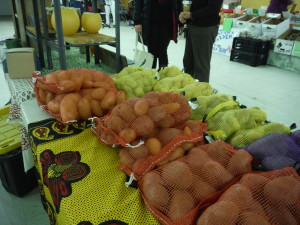 Winter Market Potato Sales